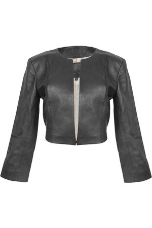 Women Leather Jackets - Women's Artisanal Black Leather Cordobesa Jacket Small Kmana