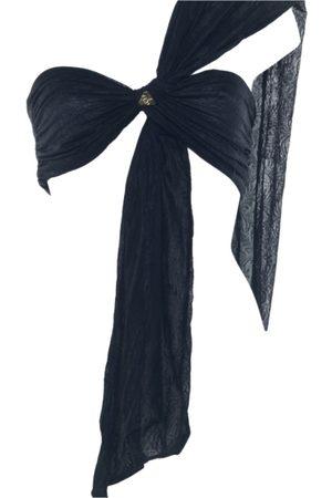 Women Strapless Tops - Women's Artisanal Black Bandeau Wrap Top- Wren Wrap Demery Jayne Onyx Demery Jayne International