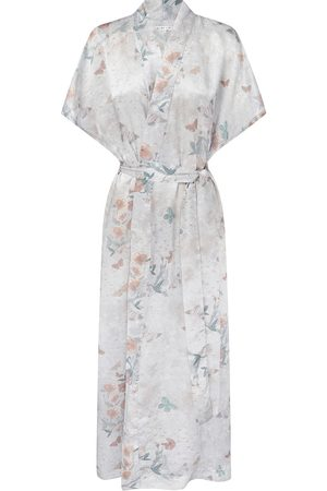 Women Kimonos - Women's Mauve Silk Reverie Kimono Medium Genevie