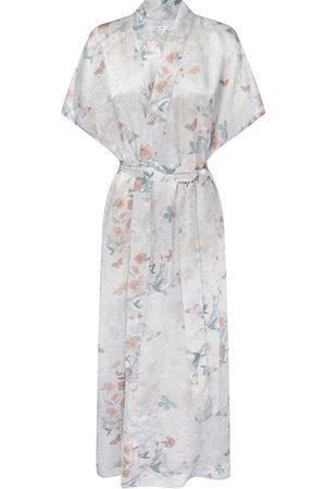 Women's Mauve Silk Reverie Kimono Small Genevie