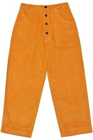 Men's Artisanal Mustard Cotton Logjam Trousers - Corduroy 34in LaneFortyfive
