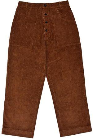 Men's Artisanal Brown Cotton Logjam Trousers - Corduroy 34in LaneFortyfive