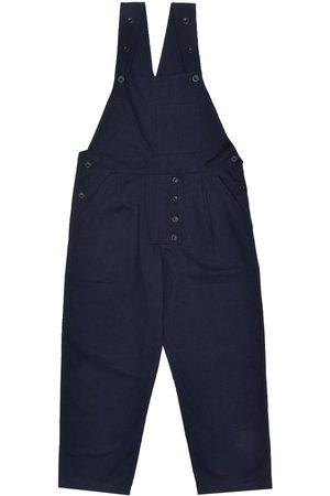 Men Dungarees - Men's Artisanal Navy Cotton Dit Dungarees - Twill 36in LaneFortyfive