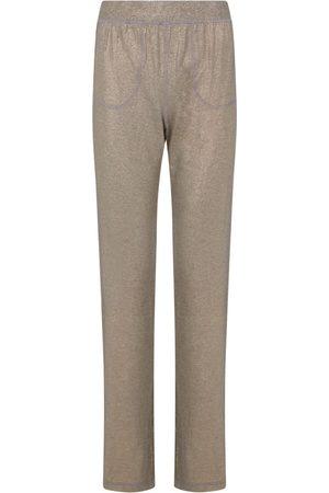 Women Sweats - Women's Artisanal Gold Fabric en Glamour Pants Medium Room 24