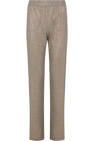 Women Sweats - Women's Artisanal Gold Fabric en Glamour Pants XS Room 24
