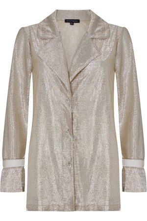 Women Sweats - Women's Artisanal Metallic Fabric Luster & Luxe Top Large Room 24