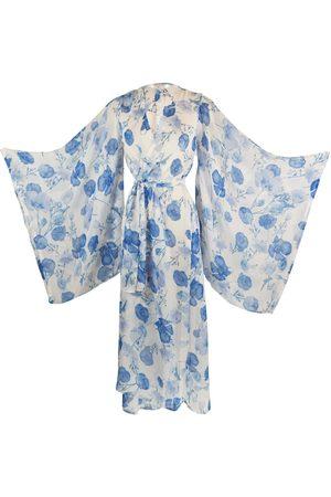 Women Kimonos - Women's Artisanal Blue Danube Kimono Large Jennafer Grace