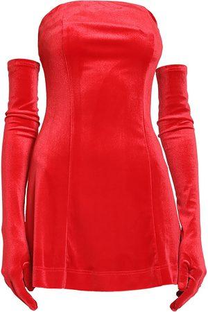 Women Party Dresses - Women's Red Velvet Cupid Dress & Gloves Medium Miscreants