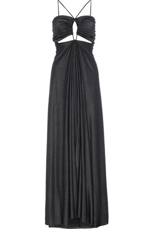 Women Casual Dresses - Women's Artisanal Grey Cotton Sundis Gunmetal Sweater Dress Medium LAHIVE