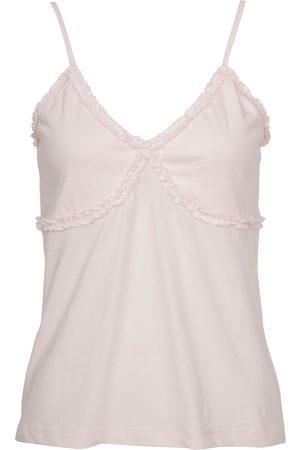 Women Sweats - Women's Low-Impact Pink Cotton Ida Cami Medium Wallace Cotton