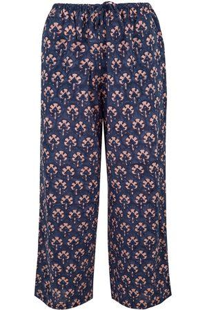 Women Pajamas - Women's Artisanal Grey Cotton Midnight Dilkush Pyjama Trouser & Journal Gift Duo Large Dilli Grey