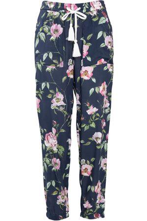 Women Pajamas - Women's Low-Impact Blue Cotton Bonnie Pyjama Bottoms Small Wallace Cotton