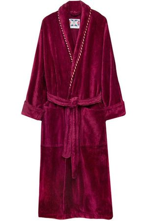Red Cotton Men's Dressing Gown - Earl Claret Large Bown Of London