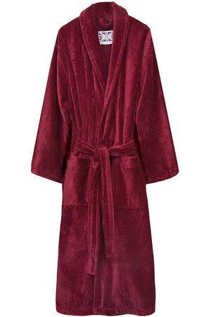 Burgundy Cotton Men's Dressing Gown - Baron XL Bown Of London