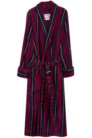Yellow Cotton Men's Dressing Gown - Marchand Medium Bown Of London