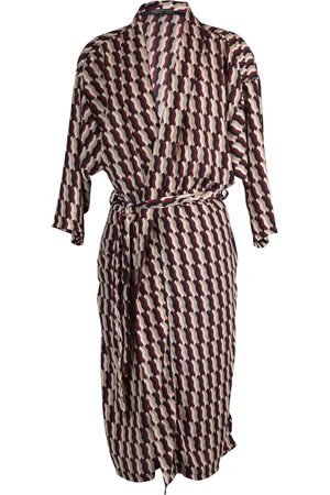 Women Kimonos - Women's Artisanal Red Brick Geo Koi Kimono Large Jennafer Grace