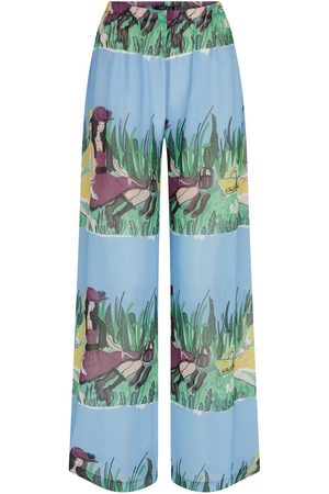 Women's Artisanal Girls At Meadow Pyjama Pants Medium kith & kin