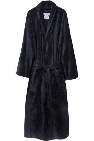 Navy Cotton Men's Dressing Gown - Baron Medium Bown Of London