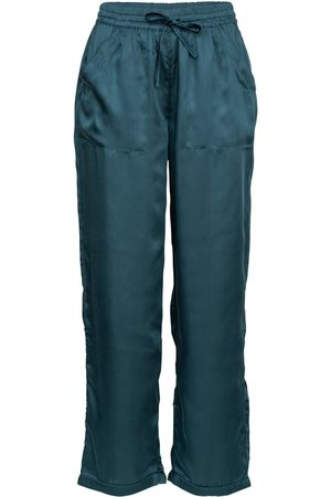 Women's Low-Impact Blue Cotton Mother Of Pearl Pyjama Bottoms Large Wallace Cotton