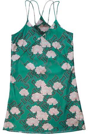 Women's Green Silk Kiku Nighty Large Emma Wallace