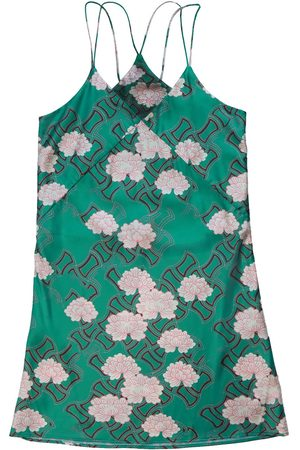 Women's Green Silk Kiku Nighty Medium Emma Wallace
