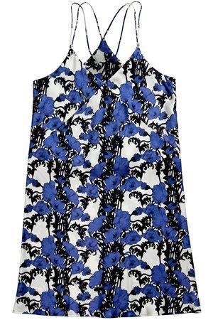 Women's Blue Silk Papaver Nighty Medium Emma Wallace
