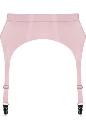 Women Underwear Accessories - Women's Artisanal Pink Latex Suspender Baby Medium Elissa Poppy