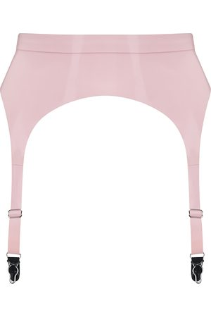 Women's Artisanal Pink Latex Suspender Baby XS Elissa Poppy