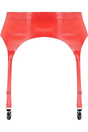 Women's Artisanal Red Latex Suspender - Scarlet Large Elissa Poppy