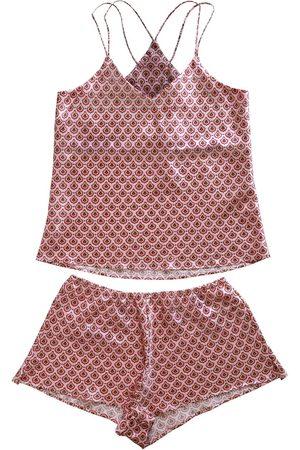 Women Sweats - Women's Pink Silk Cassia Cami Set Large Emma Wallace