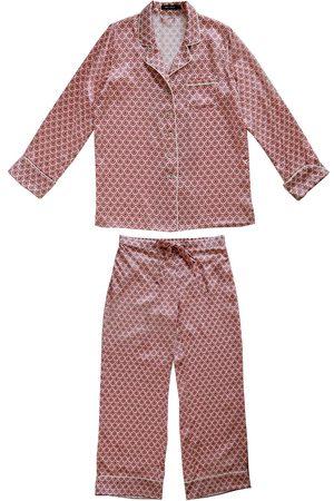 Women's Pink Silk Cassia Pyjama Set Medium Emma Wallace