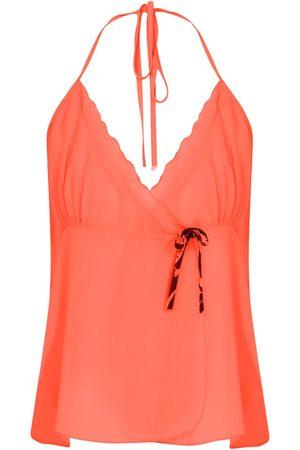 Women Pajamas - Women's Artisanal Orange Pyjama Set Medium kith & kin