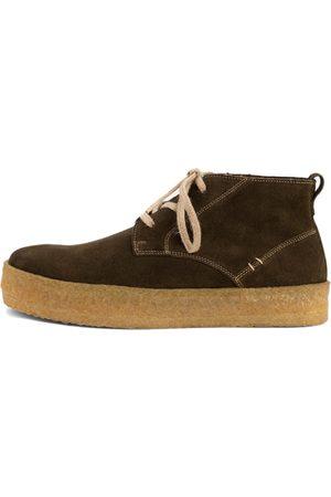 Men's Organic Green Crepe Edward Boot Shoes 8 UK LUSQUINOS