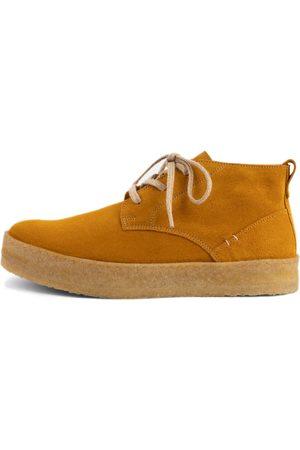 Men's Organic Yellow Crepe Edward Boot Shoes 8 UK LUSQUINOS