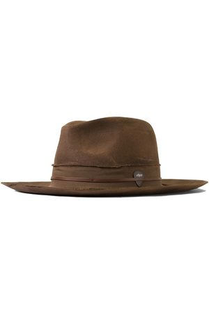 Men Hats - Men's Brown Wool The Nomad Fedora - Cigar Relic 57cm Other