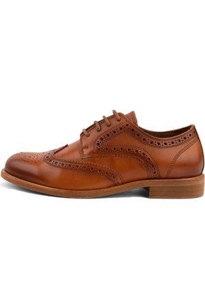 Men's Organic Brown Cotton Robert Brogue Shoes 7 UK LUSQUINOS