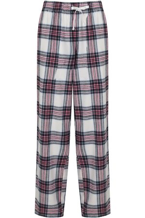 Women's Non-Toxic Dyes Pink Cotton Hinksey Brushed Pyjama Bottoms - White Small Hortons England