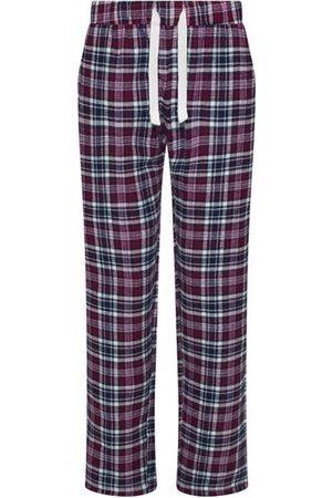 Women Pajamas - Women's Non-Toxic Dyes Navy Cotton Hinksey Brushed Pyjama Bottoms - & Red XS Hortons England
