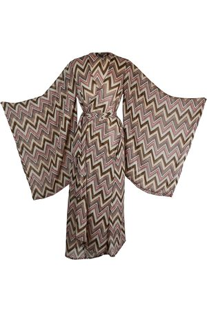Women's Artisanal Brown Rosita Kimono Medium Jennafer Grace