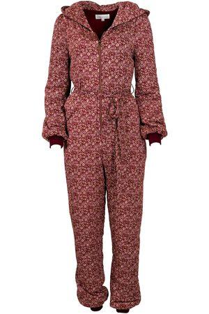 Women's Artisanal Burgundy Fabric Le Reve Jumpsuit Floral Large Kristinit