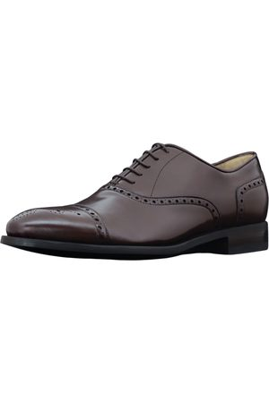 Men's Artisanal White Cotton Sovereign - Quarter Brogue Oxford Shoes 9 UK Vyom London