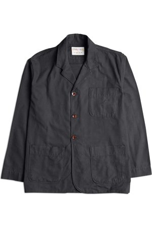 Men's Black Cotton The 3006 Organic Blazer Large Uskees