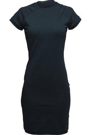Women's Artisanal Black Cotton Non517 Raglan Shirt Dress XL NON+