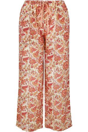 Women Pajamas - Women's Artisanal Grey Cotton Papaya Mumtaz Pyjama Trousers Large Dilli Grey