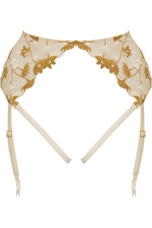 Women Underwear Accessories - Women's Ivory Silk Soraya Harness Suspender Small Studio Pia