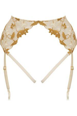 Women's Ivory Silk Soraya Harness Suspender XS Studio Pia