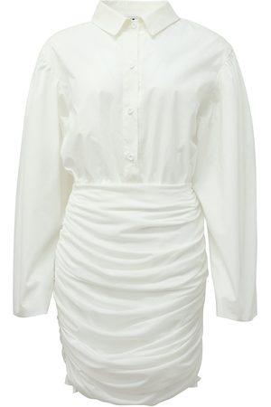 Women's White Cotton Rika Dress Large AMY LYNN