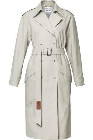 Women Trench Coats - Women's Low-Impact Natural Cotton Judith Denim Trench Small DIANA ARNO
