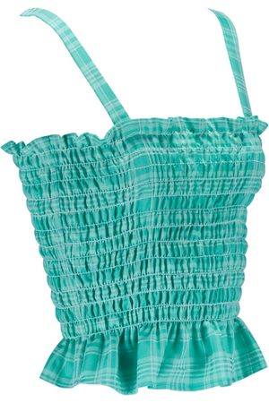 Women Capris - Women's Natural Fibres Green Fabric Christina Medium ExtraAF
