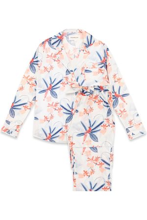 Women Sweats - Women's Cotton Tropical Bird Long Set - 100% Organic XL Moon + Mellow